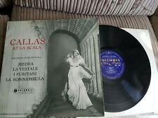 MARIA CALLAS At La Scala COLUMBIA 33CX 1540 EX Vinyl LP