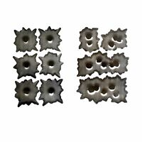 SPAR Sticker Set 4 + 6 Bullet Holes 3D Sticker Einschuss Loch Aufkleber Gun Shot