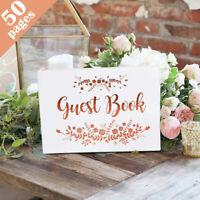 Personalised Wedding Guest Book Wedding Album Rose Gold Wedding Birthday Party