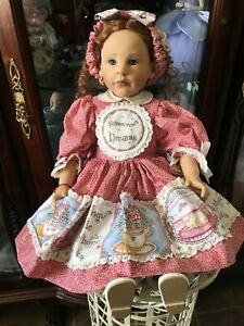 "RARE Red-haired Principessa 22"" Gotz Vinyl Doll *"