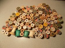 Vtg Lot of 100 + Sewing Empty Thread Spools Wood Variety Arts, Crafts, 2
