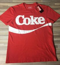 Zara Man Coke Coca-Cola Vintage T-Shirt Men's Size SMALL Red/White NWT