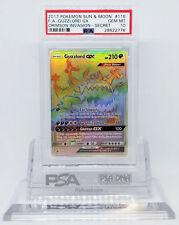 Pokemon Crimson Invasion Guzzlord GX 116/111 Hyper Secret Holo PSA 10 GEM MINT
