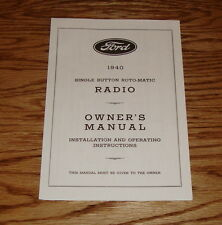 1940 Ford Radio Owners Operators Instruction Manual 40