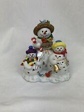 Partylite Snowman Trio Christmas Seasonal Candle Holder