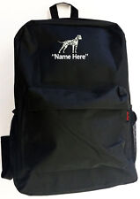 DALMATIAN Dog with Personal Name Embroidered Monogrammed Stitched Backpack Bag
