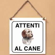 Basset Fauve de Bretagne 2 Attenti al cane Targa piastrella cartello ceramic