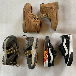 Bundle Toddler Size 7: Old Navy Boots-Teva Sandals-Vans Hot Rod Skater Shoes-EUC