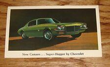 Original 1970 Chevrolet Camaro Super Hugger Postcard 70 Chevy