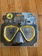 Body Glove Snorkel Goggles with GoPro Mount Yellow Adult Size
