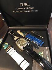 Fuel New Gents Chronograph watch with 20 genuine diamonds