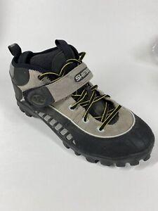 Shimano SH-M058 Men's Black Gray Mountain Bike Shoes SPD SZ 10.5 US / 45 EU MTB