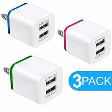 USB Charger 5V Dual 2Port 2.1Amp 1.0Amp Wall USB Plug Charger Wall Plug Power