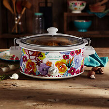 Pioneer Woman 6qt Portable Hamilton Beach Slow Cooker Crock Pot Flea Market