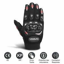 Yissvic Gants Moto Homologué scooter Tactile Plein-doigt L