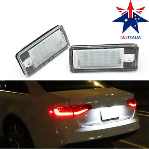 LED License Number Plate Lights Lamps For Audi A3 S3 A4 S4 A6 C6 S6 A8 S8 Q7 RS4