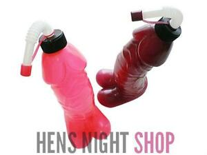 Hot Pink Hens Night Pecker Penis Sipper/ Willy Dicky Novelty Drink Bottle