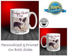 Cardigan Welsh Corgi Personalised Ceramic Mug: Perfect Gift. (D188)