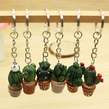 Mini Cactus Key Ring Keychain Keyring Women Bag Charm Pendant Key Chain Jewelry