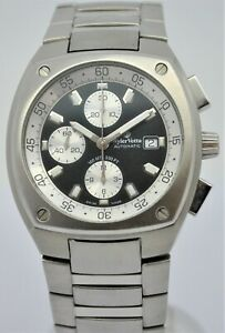 Wyler Vetta chronograph automatic date stainless steel gents watch