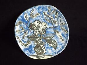 Pablo Picasso Madoura Ceramic Plate Vase Au Bouquet AR 304 Mint Condition