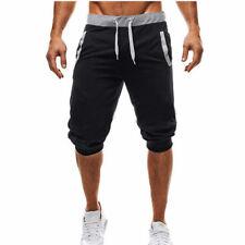 Men 3/4 Knee Length Casual Jogger Sport Shorts Baggy Gym Harem Pants Trousers F2