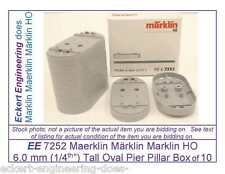 EE 7252 EXC Marklin Oval Pier 6mm for Plastic Bridges Pack of 10;   6 mm 1/4""