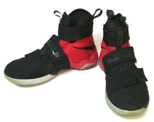 Nike LeBron Soldier 10 SFG Bred Black/Black University Red Size 8 844378-006