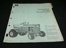 John Deere 60 Lawn Tractor Parts Manual Book Catalog List Original