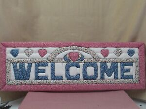"""Handmade Quilted Welcome Sign 24""""x8"""""""