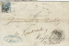 AUSTRIA : 1857 9k imperf on entire from Vienna to Weisskirchen