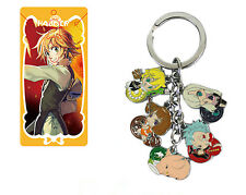 Anime The Seven Deadly Sins Characters 5 Pendants Metal Key chain Keyring