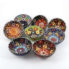 Handmade Ceramic Handpainted Colourful Small Nut Bowl 12 Pieces Pack *Gift*