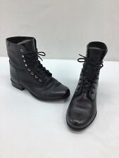 Ariat Women's Heritage Black Leather Lace Up Ankle Boots Size 6M  L2995 OOS/