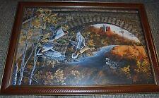"Framed Stone Bridge Mallards by Donald Blakney, Limited Edition, 14"" x 21"""