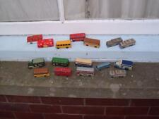 A JOB LOT OF 16 BUSES MATCHBOX CORGI ETC IN USED CONDITION VINTAGE C PICS