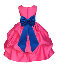Flower Girl Princess Dress Kid Party Pageant Wedding Bridesmaid Child Dresses