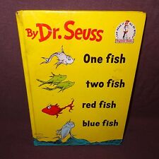 Dr. Seuss One Fish Two Fish Hardcover Book 1960 Childrens Beginner Story