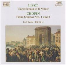 Liszt: Piano Sonata In B Minor / Chopin: Sonatas Nos. 1 And 2  Audio CD