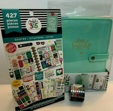 Create 365 Happy Planner Mini Deluxe Cover Mint + Quotes Sticker Book + Washi