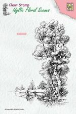 Nellie Snellen Idyllic Floral Scenes Clear Stamp Tree With Boat IFS014 10 X 14cm