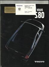 VOLVO S80 SALES BROCHURE 1999