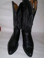 Nocona Pointed toe Black Leather Style Cowboy Western Boots Men's Size 10D