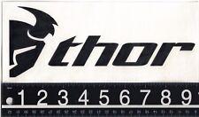 THOR MX DECAL Thor 9.5 in x 4 in Black Dirtbike Motocross Thor Helmet Sticker