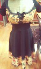 Retro 50's Punk Rockabilly Pinup Classic Tattoo Flash Dress Size Small.