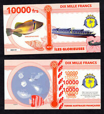 ★★ ILES GLORIEUSES ● TAAF ● BILLET POLYMER 10000 FRANCS ★ COLONIE FRANCAISE