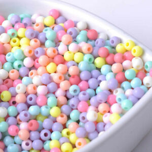 Free Ship 1000PCs Mixed Acrylic Ball Beads Round Spacer beads Jewelry Making 6mm