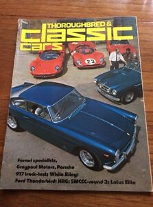 Vintage Magazine Thoroughbred & Classic Cars Film Prop  Car Showroom July 1975