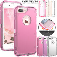 For iPhone 8 X 7 6 Plus Samsung Shockproof Transparent Clear Defender Cover Case