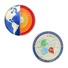 The Forces That Shape Our Earth Geocoin - Gold Geocaching Trackable